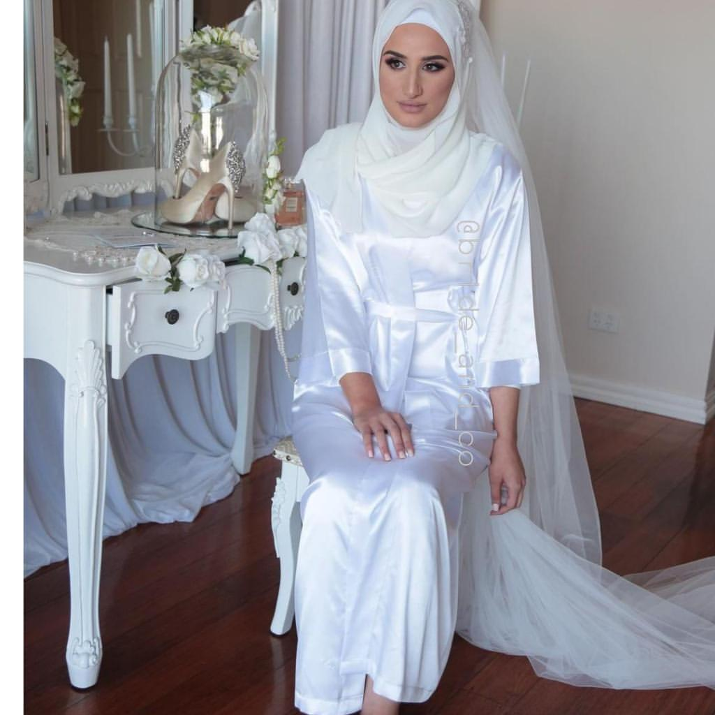Full Length Bridal Satin Robe