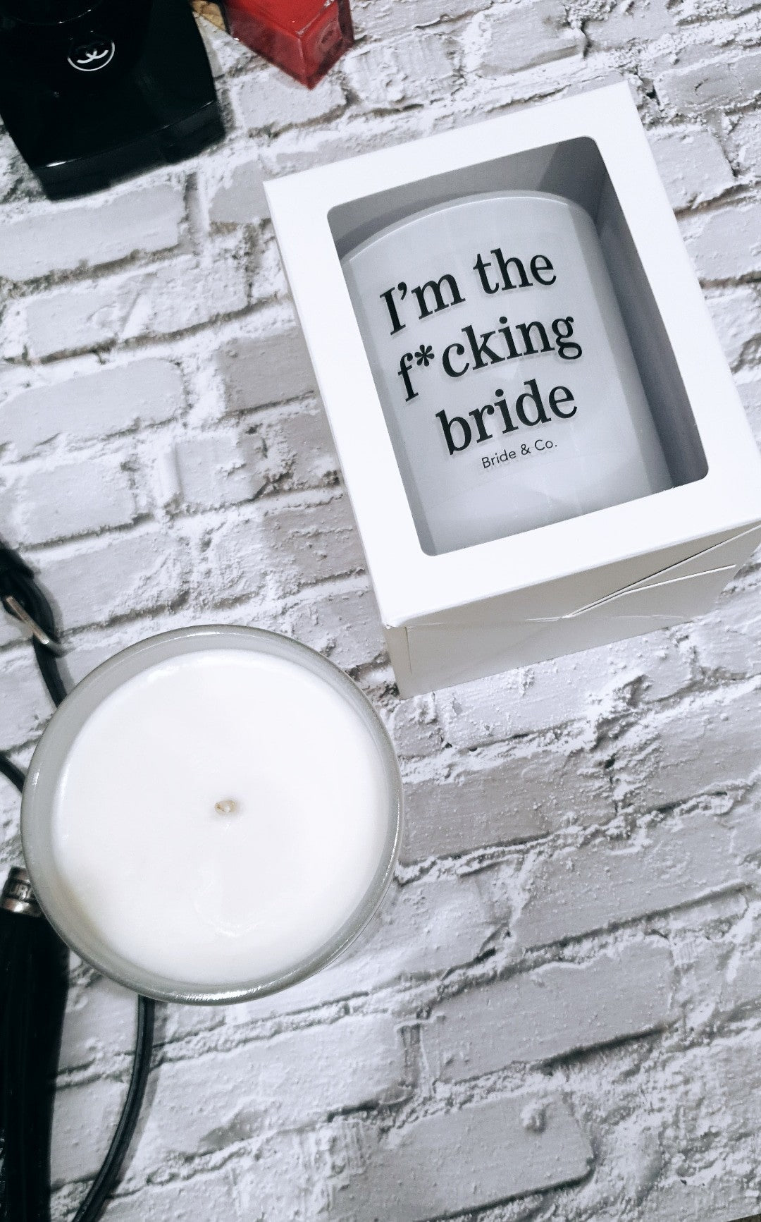 "Quote Candles ""I'm the f*cking bride"" limited Edition Range"