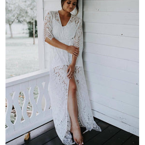 Lilly Collection- Full Length Bride Lace Robe.