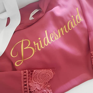 Kate Collection- Bridal Party Cotton/Lace Robes.