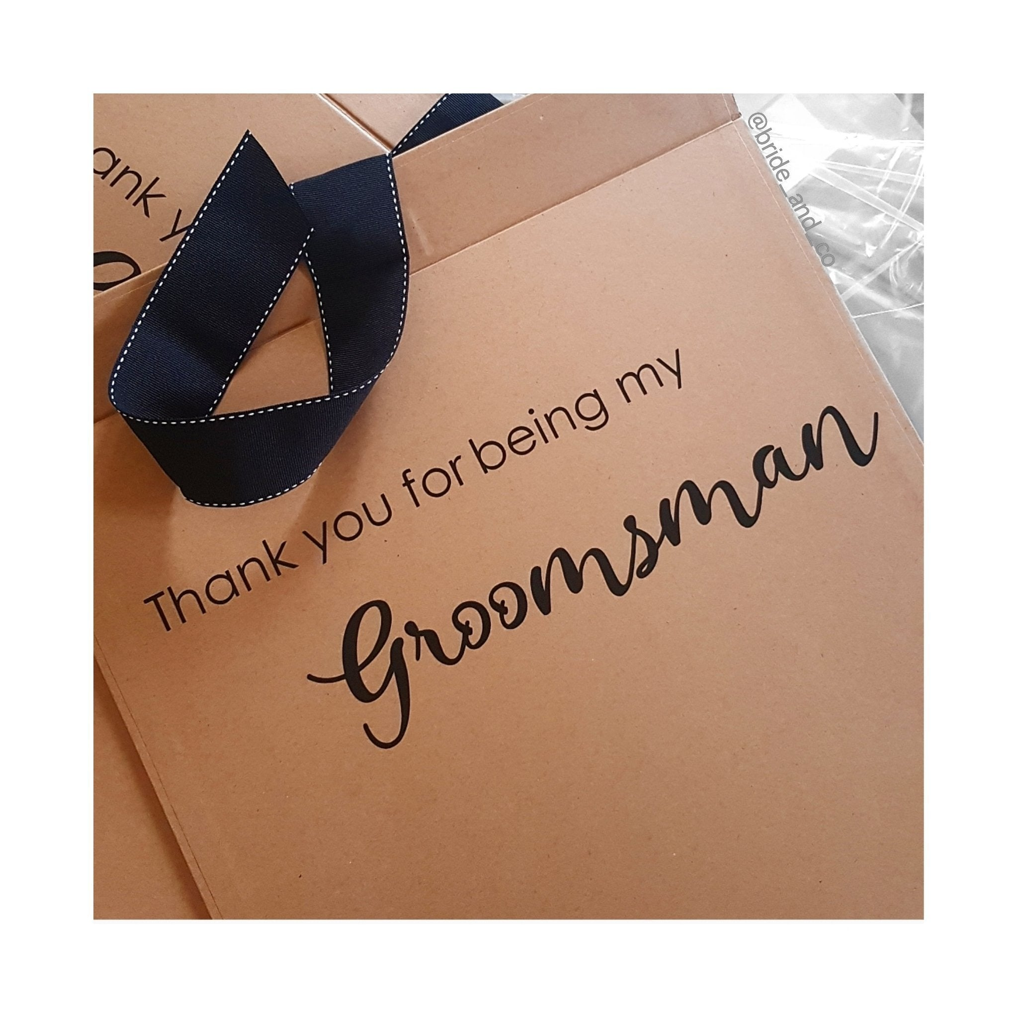 Bridesmaid Proposal Box                 (Name on the lid, Message inside & bonus card)