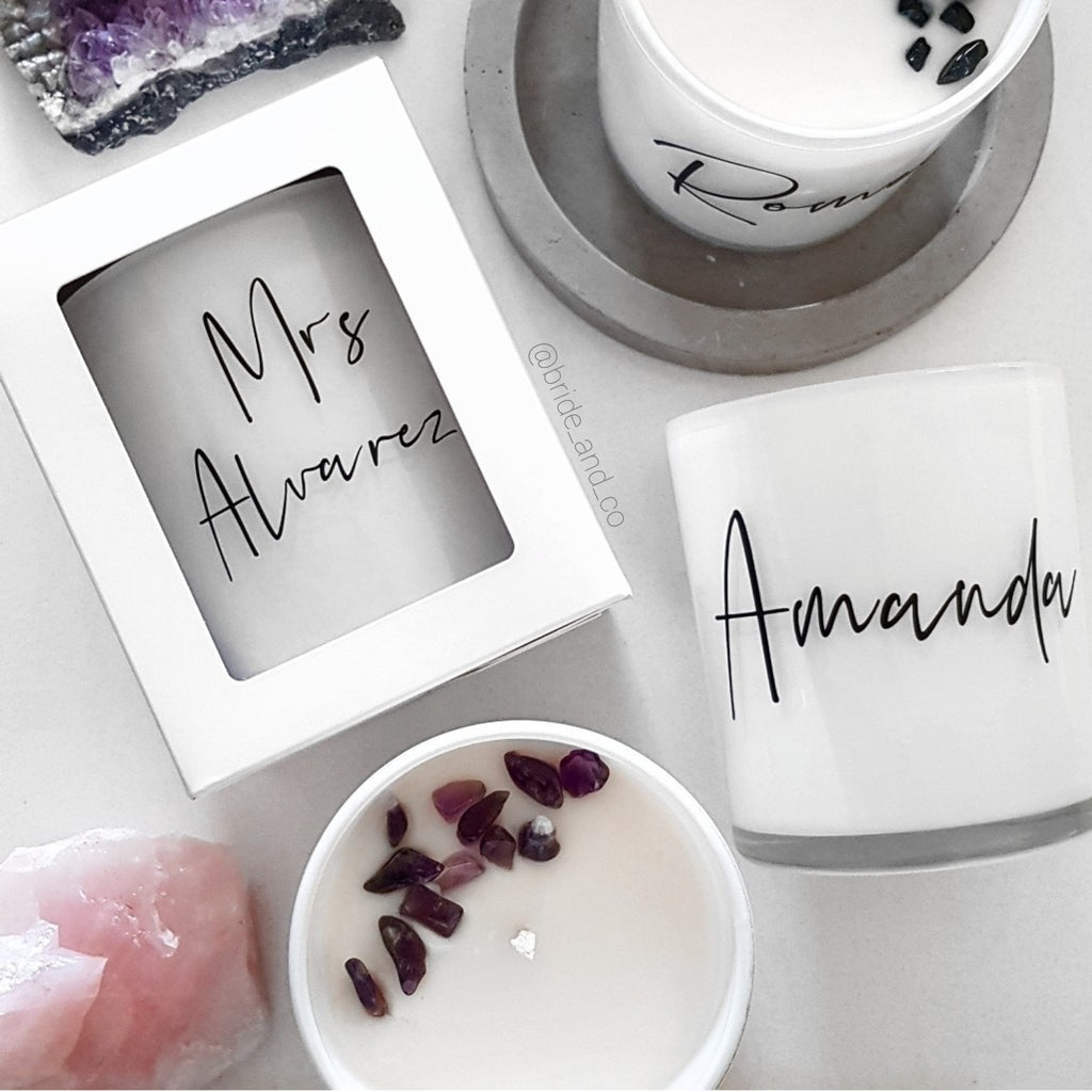 Personalised crystal Infused 'Name' Candles 360ml