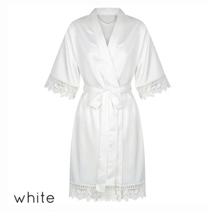 Anna Collection- Personalised Satin Robe