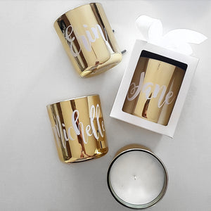 Gold Personalised Soy Candle 360ml