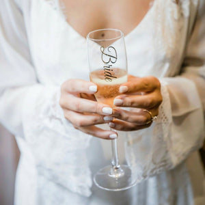 Personalised Champagne Glasses, the perfect Bridesmaid gift