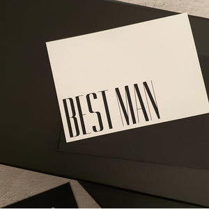 Best Man & Groomsman Card with envelope