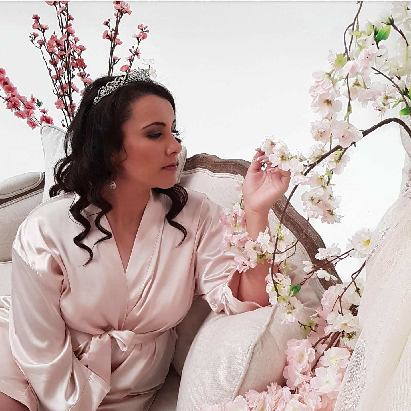 Bridal 'Bridesmaid' Satin Robe.