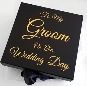 To My Bride On Our Wedding Day- Large Size Hamper Box.