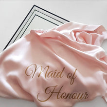 Load image into Gallery viewer, Bridal 'Maid of Honour' Satin Robe