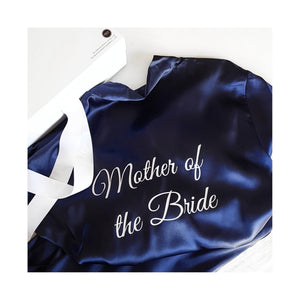 Bridal 'Mother of the Groom' Satin Robe.