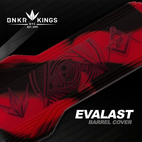 Bunkerkings - Evalast Barrel Cover - Conspiracy - Red