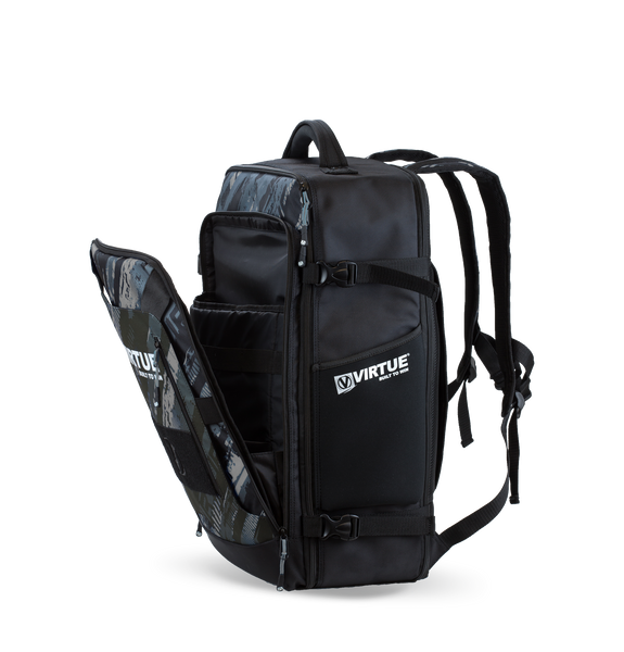 Virtue Gambler Expanding Gear Backpack - Graphic Black