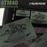 Tim Montressor #TM40 Forever Rubber Velcro Patch - 2 Pack - Olive