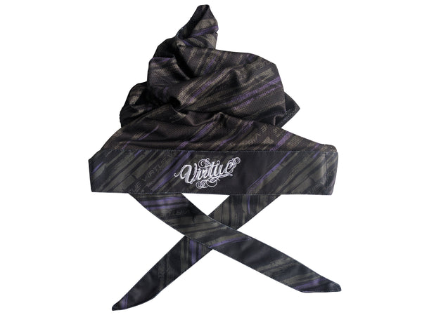 zzz - Virtue Padded Headwrap - Graphic Purple