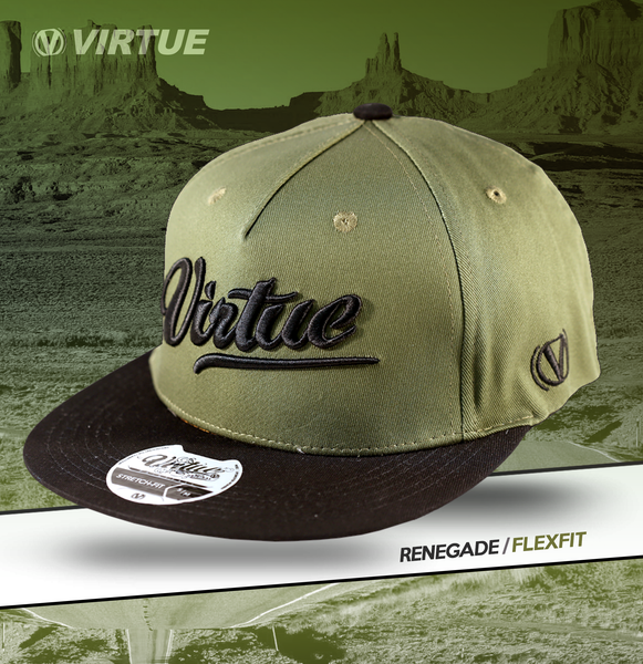 Virtue Flex Fit Hat - Olive - Renegade All-Star