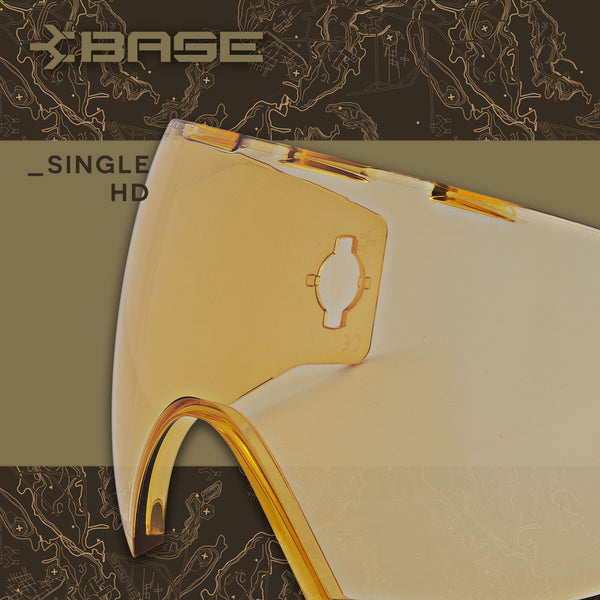 Base Replacement Lens - Antifog Single Pane HD Copper
