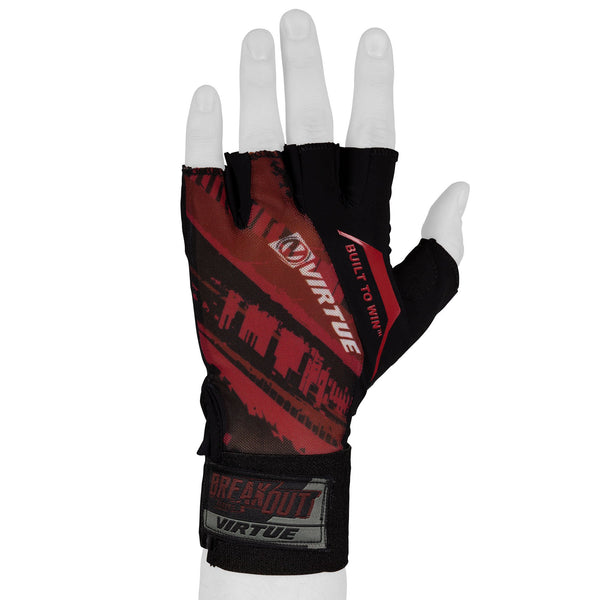 Virtue Mesh Breakout Gloves - Half Finger - Graphic Red