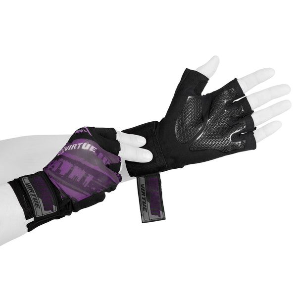 Virtue Mesh Breakout Gloves - Half Finger - Graphic Purple