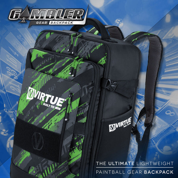 zzz - Virtue Gambler Expanding Gear Backpack - Graphic Lime