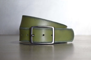 Distressed Camo Leather Belt