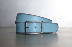 Distressed Verdigris Leather Belt