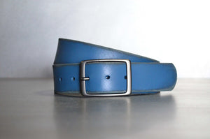 Distressed Petrol Leather Belt