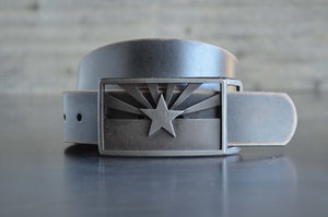 Stacked Steel Arizona State Flag Buckle