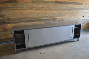 SIMPLE INDUSTRIAL STEEL CREDENZA- shipping included in price