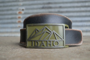 Idaho Mountain Belt Buckle