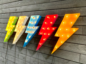 LIGHTNING BOLT MARQUEE SIGN