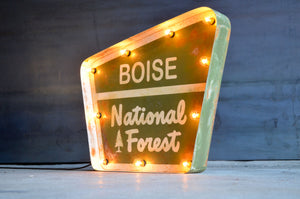 NATIONAL FOREST LIGHTED SIGN