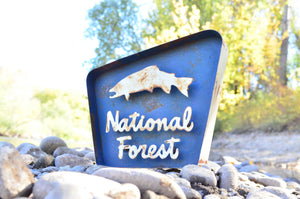 STACKED NATIONAL FOREST SIGN