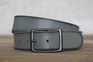 Distressed Slate Leather Belt