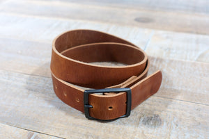 Solid Brown Leather Belt