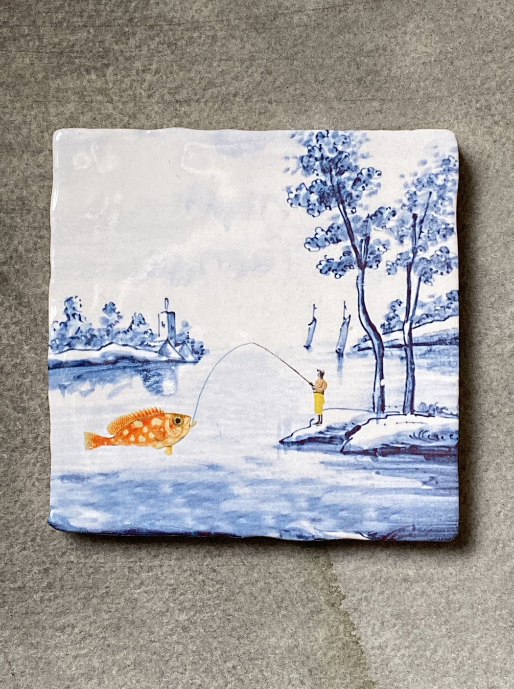 """Catching The Big Fish"" Story Tile"