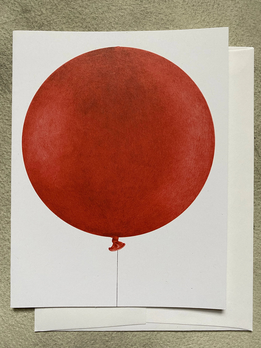 Red Balloon Blank Card