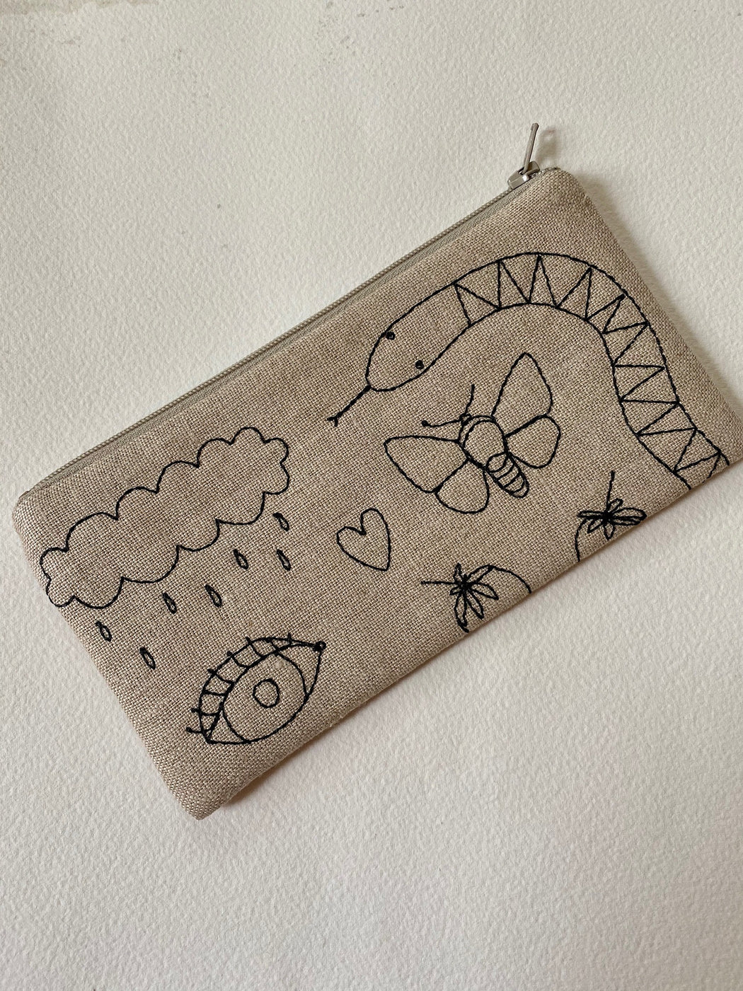 """Garden"" Embroidered Pouch"