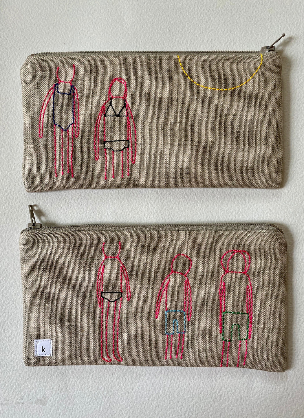 "K Studio ""Sunburned"" Embroidered Pouch"