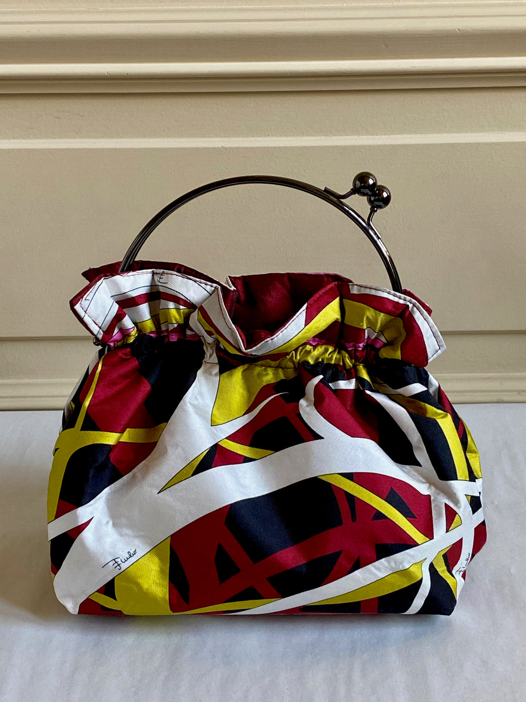 Carolyn Roberts Pucci Purse - Burgundy