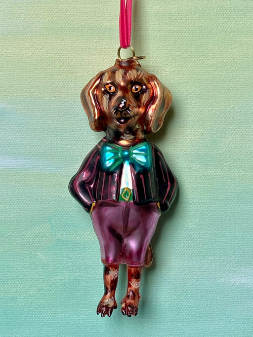 Nathalie Lete Dressed-Up Hound Dog Ornament
