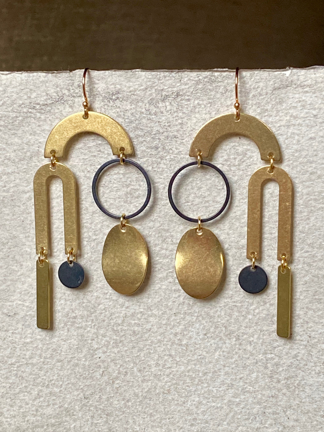 "Melissa Jenkins ""Asymmetrical Mobile"" Earrings"