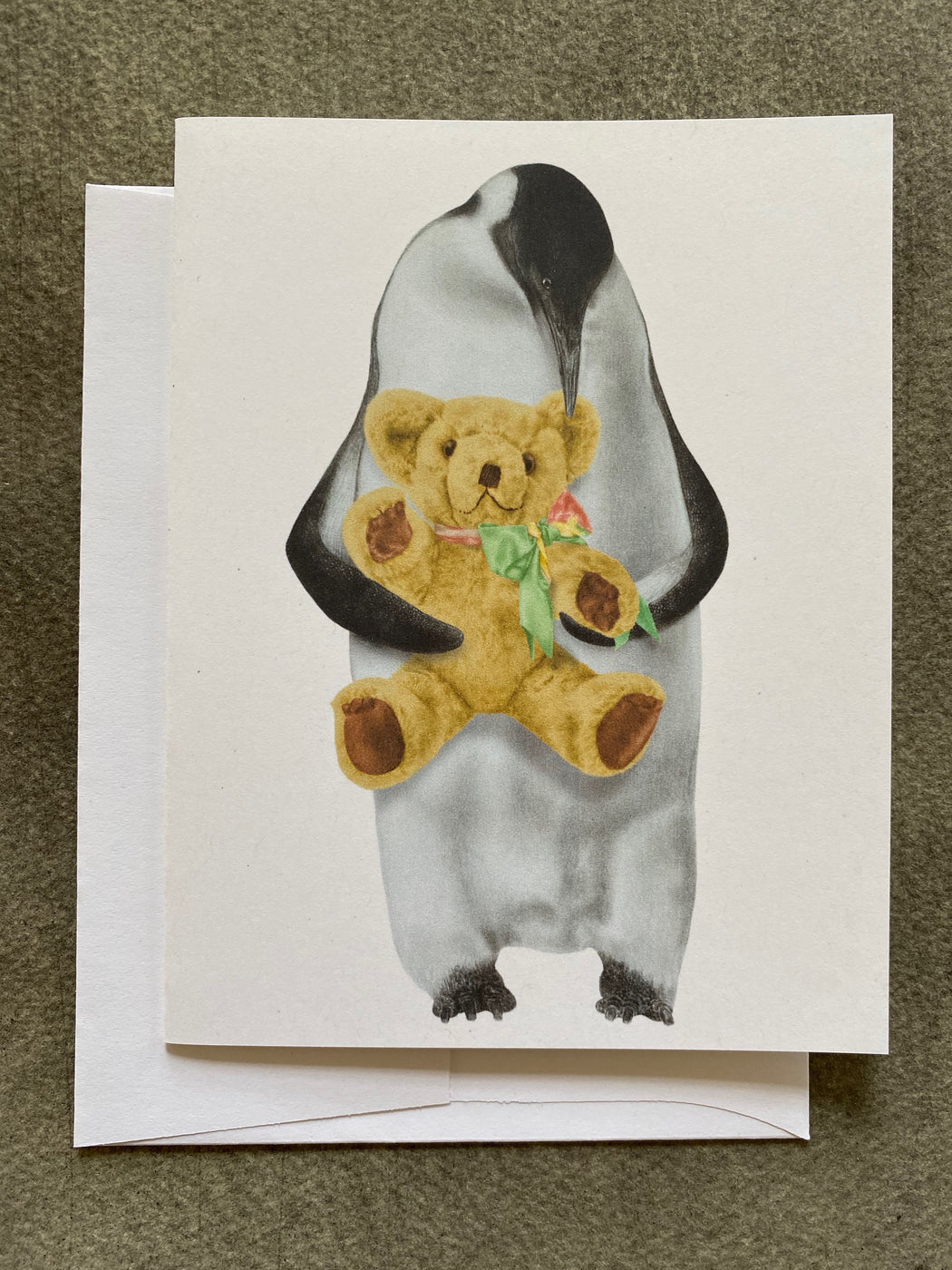 Emperor Penguin and Teddy Card