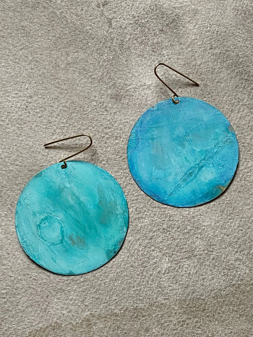"Sibilia ""Perfect Circle"" Earrings - Verdegris"