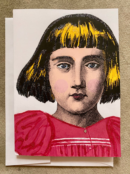 """Alice's School Picture"" Greeting Card"