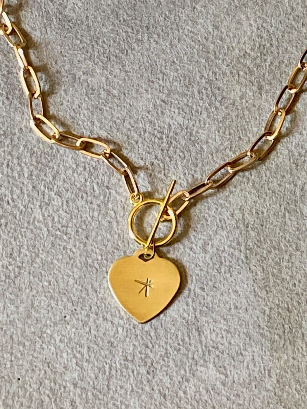 "Melissa Jenkins ""Free-Form Star"" Heart Tag Necklace"
