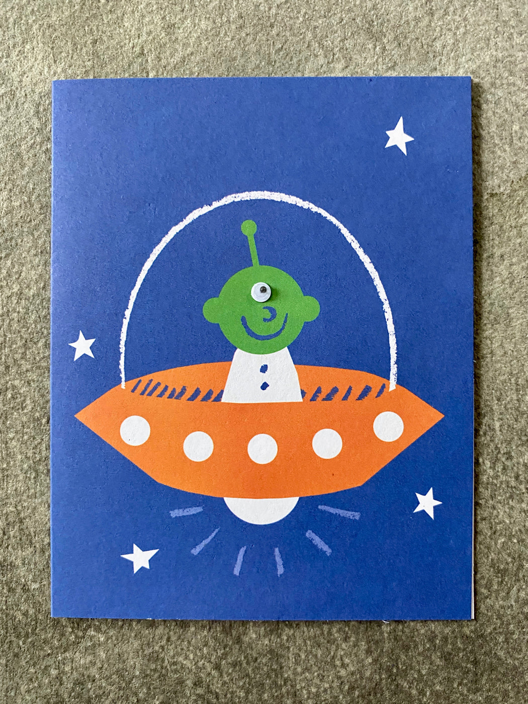 """Alien"" Greeting Card"