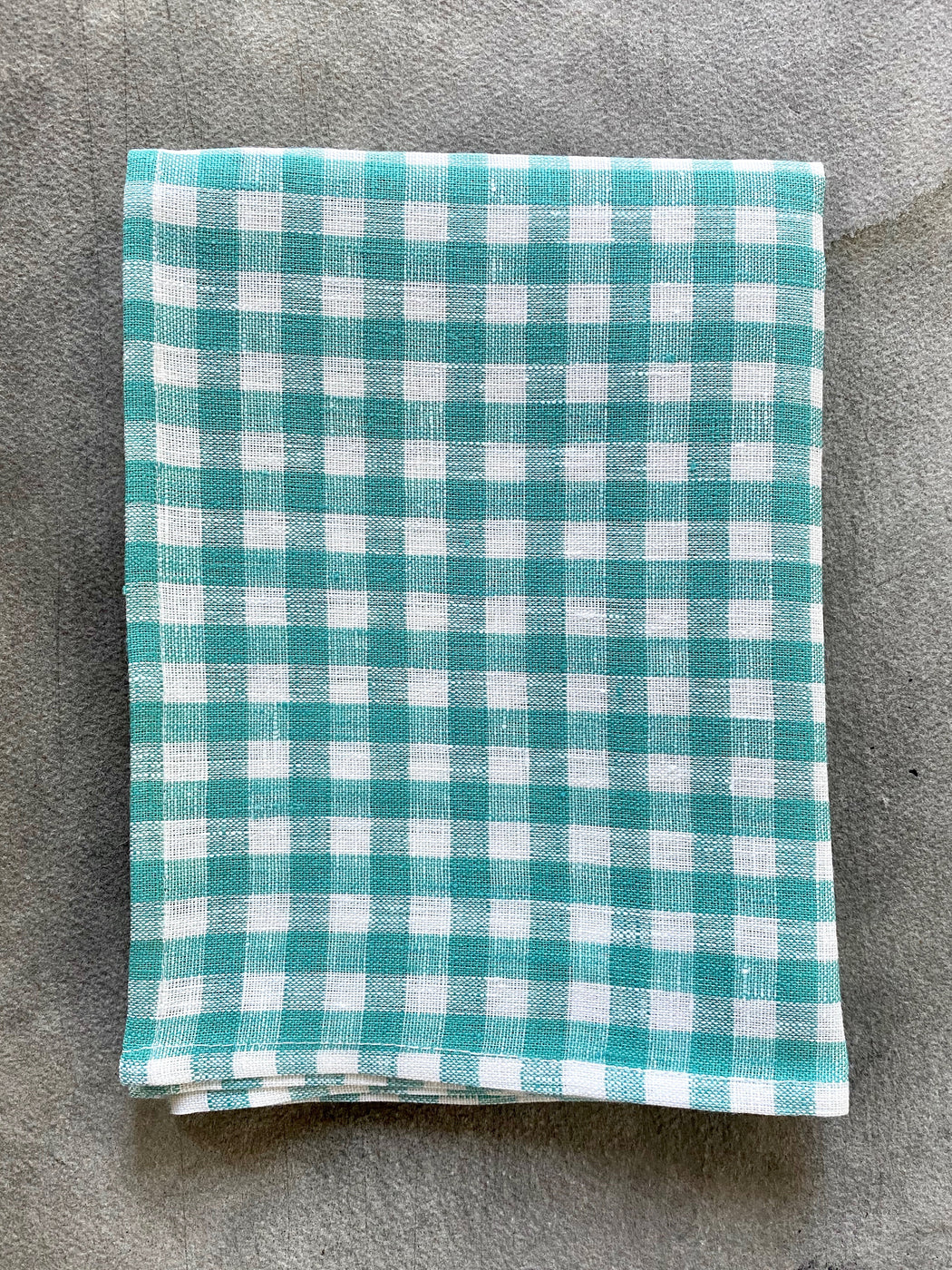 Green Checked Tea Towel by Fog Linen Work