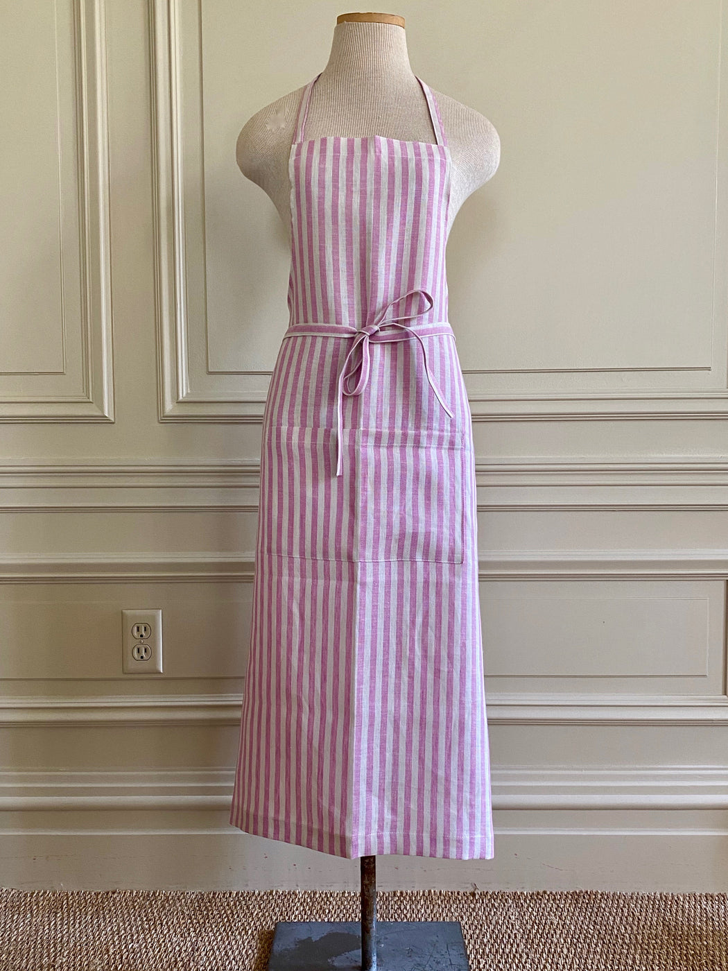 Pink Striped Apron by Fog Linen Work