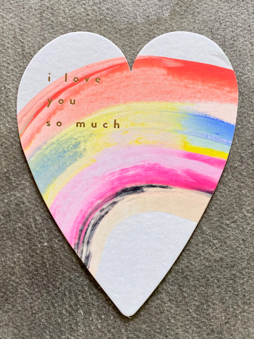 """I Love You So Much"" Hand-Painted Card"
