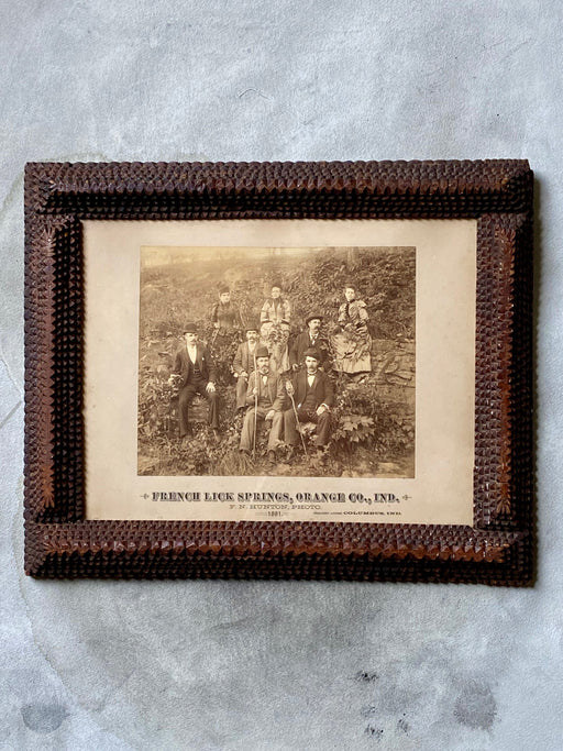 Vintage Tramp Art Picture Frame - French Lick Springs